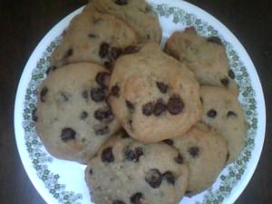 Biscuit aux pépites de chocolat végétaliens
